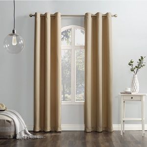 Two Lichtenberg Taupe Curtain Panels